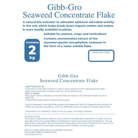 GIBB-GRO Seaweed Concentrate Flake - Highly soluble concentrated Seaweed Extract