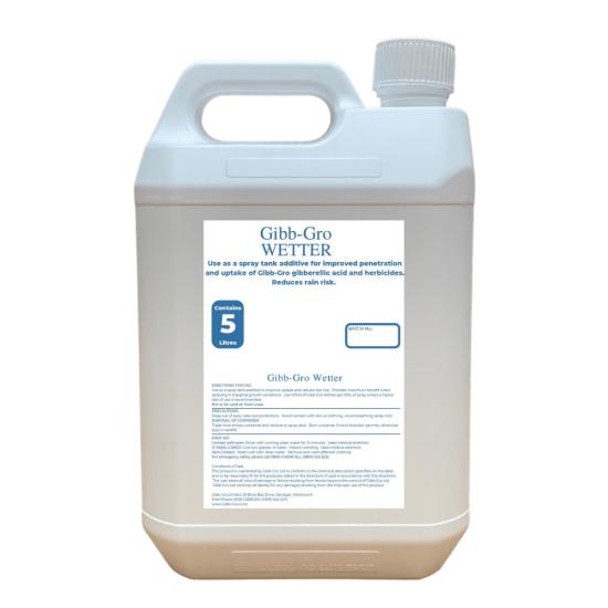 GIBB-GRO Wetter - Spreader, Wetter and Penetrant to Enhance GIBB-GRO Gibberellic Acid Uptake